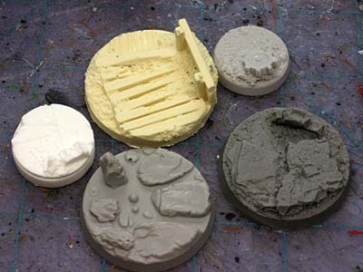 Warhammer 40k resin base selection