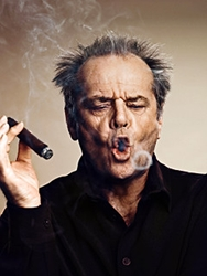 Jack Nicholson smoking his favorite cigar.