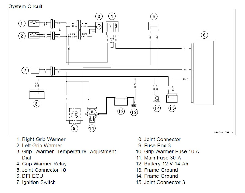 replacing the oem heated grips with symtec's Light Switch Wiring Diagram at Kawasaki Heated Grips Wireing Diagram