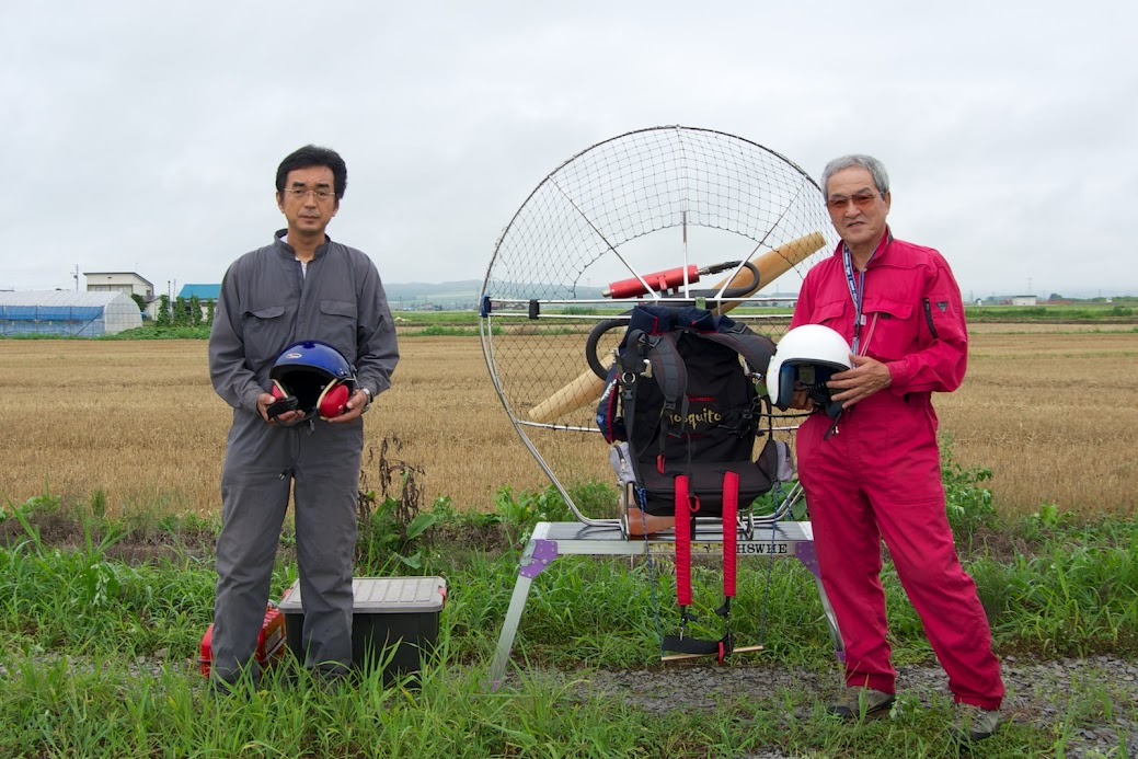 パイロット 左:堀川芳伸さん 右:山田雄三さん