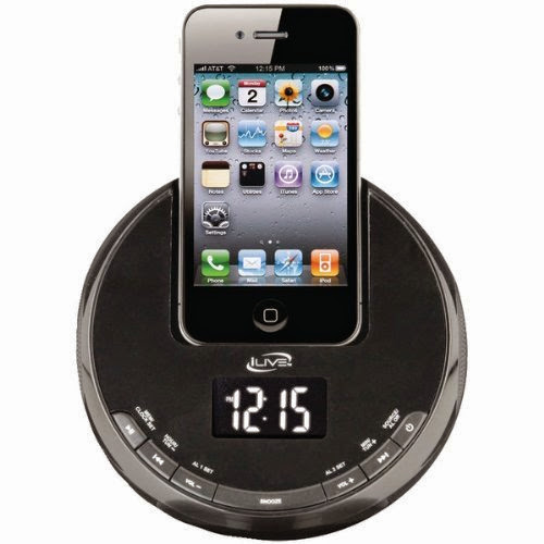 Ilive Iphone Am And Fm Alarm Clock Radio Sphere With Dock