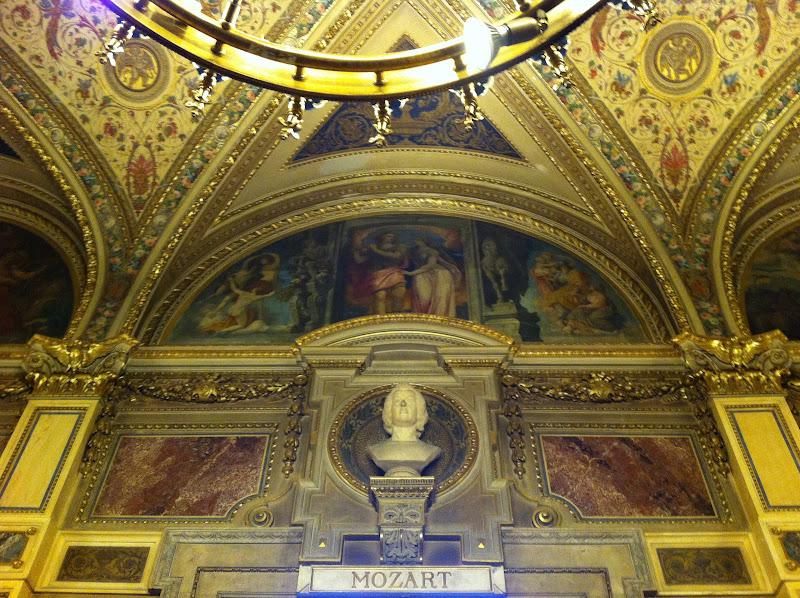 Mozart en el interior de la ópera de Viena