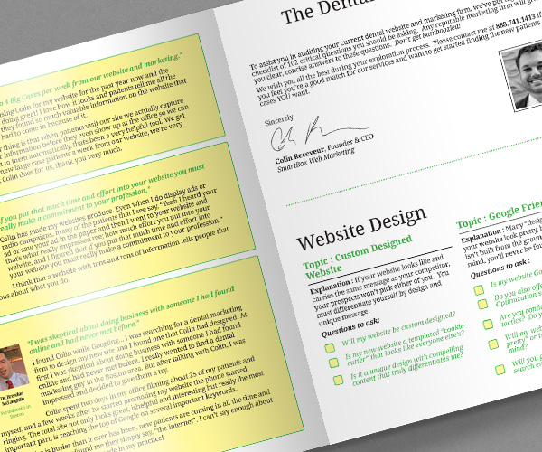 Marketing guide book design