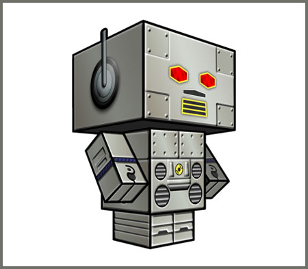 Beastie Boys Intergalactic Robot Papercraft