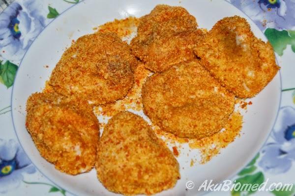 fish nugget sedia untuk digoreng
