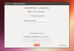 AndroVM Player su Ubuntu 13.04 Raring