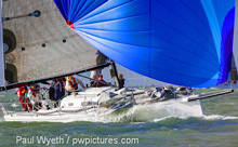 J/111 sailing on Solent- England's Hamble Winter Series