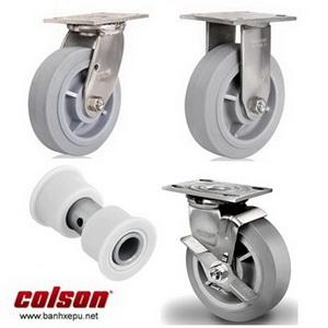 Bánh xe cao su càng bánh xe đẩy inox chịu tải trọng (158~305kg)
