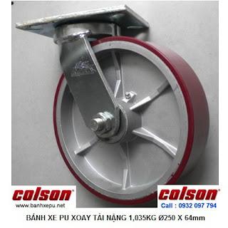 Bánh xe đẩy PU công nghiệp Colson chịu tải cao 1,035kg| 7-10679-959