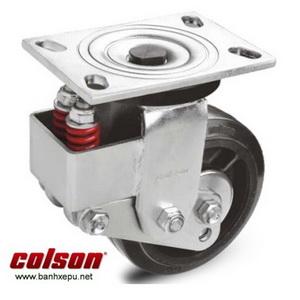 Bánh xe phi 200 lò xo giảm xóc Colson chịu tải 400kg | SB-8509-648