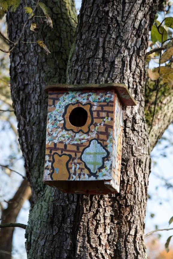 Modernes Vogelhaus