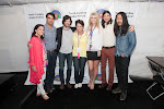Dana Reason Evans, Committee Chair, Donna Cameron, President, 2013 NCAF Queen Azalea Jennifer Wayne, with the Avett Brothers