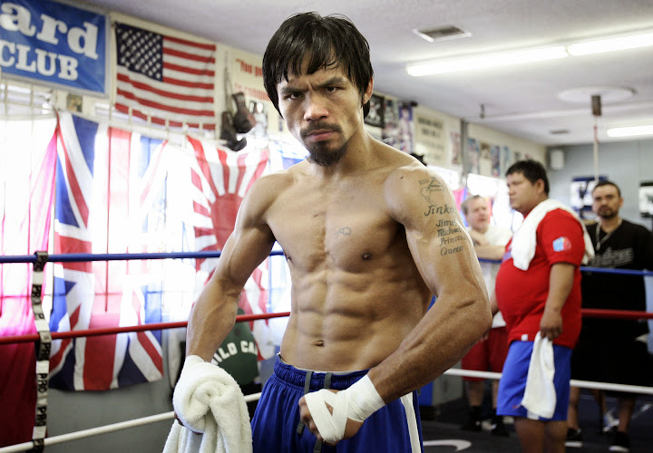 manny pacquiao shirtless training workout