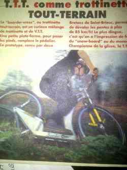 prototype Trocyclette tout-terrain