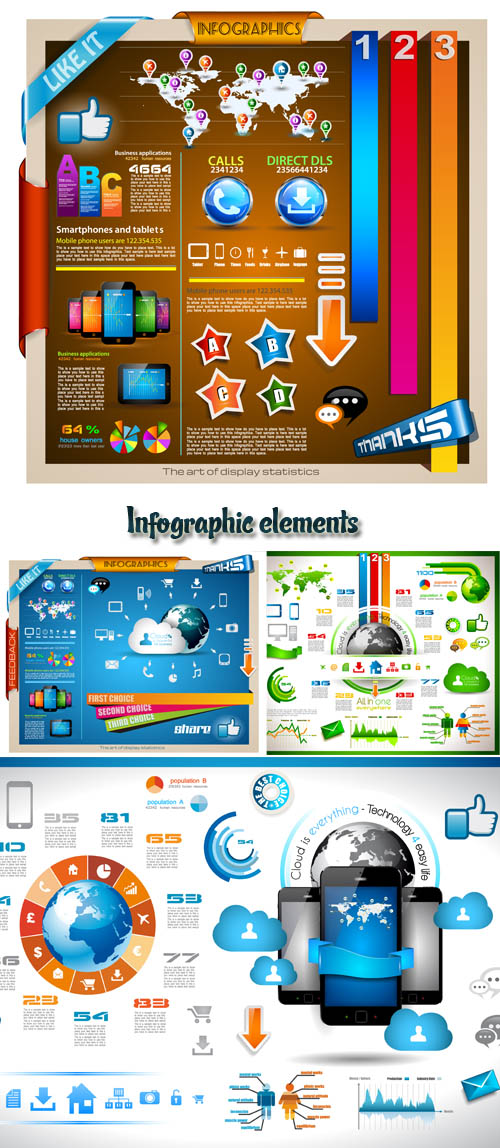Stock: Infographic elements