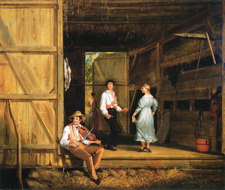 William Sidney Mount - Dancing on the Barn Floor