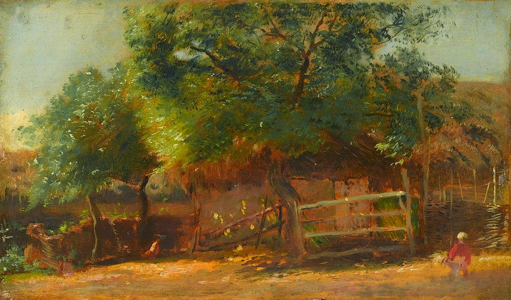 Nikolay Makovsky - Farm Yard