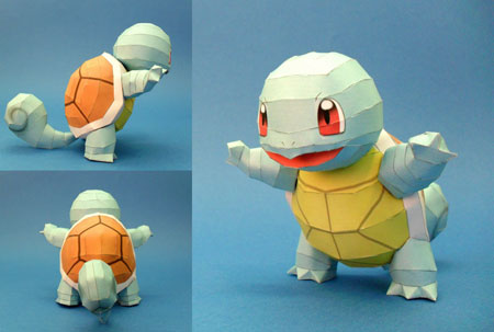 PokePark Wii Papercraft Squirtle