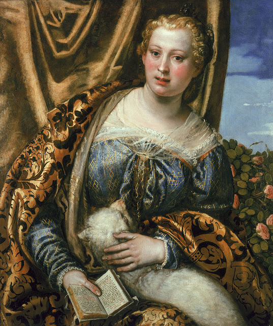 Paolo Veronese - Portrait of a Woman as Saint Agnes