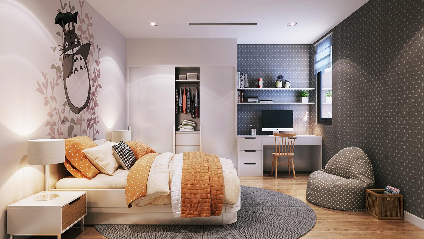 Phòng ngủ dự án Hinode City Minh Khai