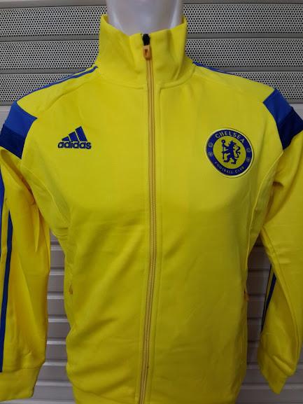 Jual Jaket Chelsea Kuning List Biru 2014-2015