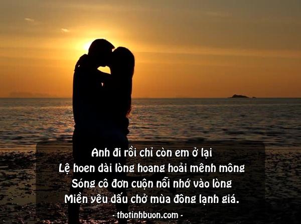 Status cô đơn cùng biển khi người yêu không còn bên