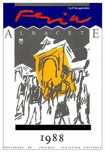 Cartel Feria Albacete 1988