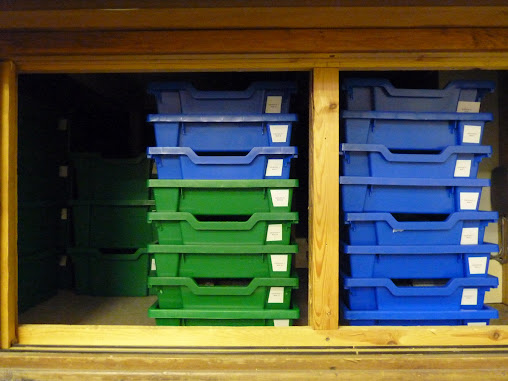 Photo showing one of the Geology Cupboards that I've managed to finish!
