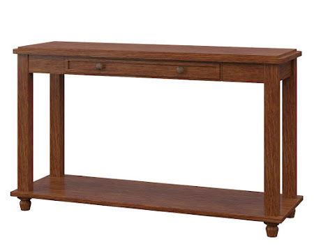 Lotus Sofa Table in Old Master Quarter Sawn Oak