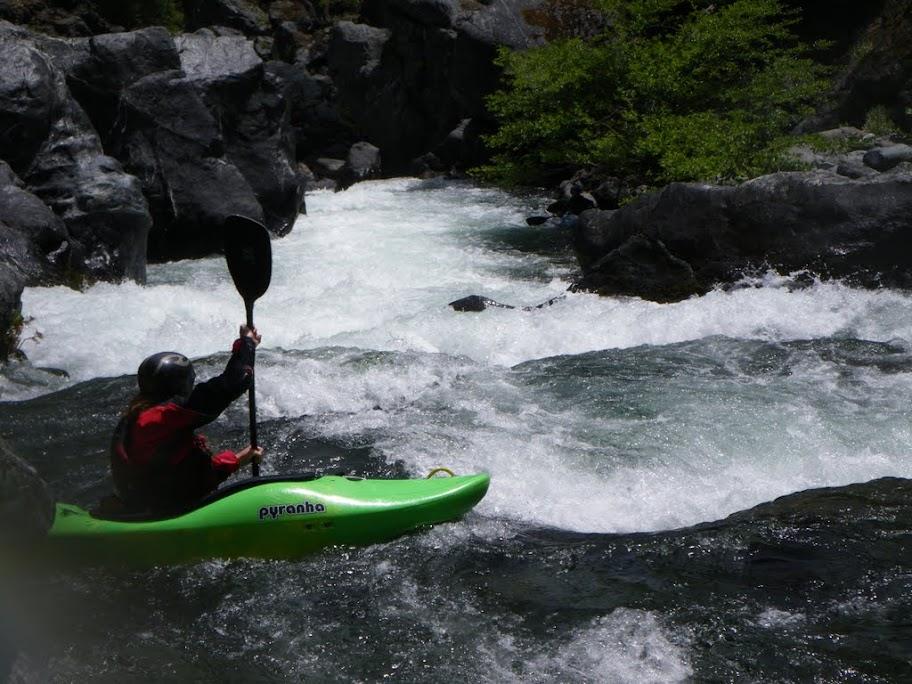 Jay Moffett eddy hopping down Clear Creek