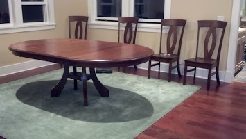 54″ Diameter x 30″ Rio Dining Table and Chairs in Cascadia Cherry