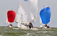 J/22 one-design sailboats- sailing in Netherlands