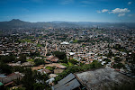 A view of sprawling Tegucigalpa on the climb up to swanky El Hatillo