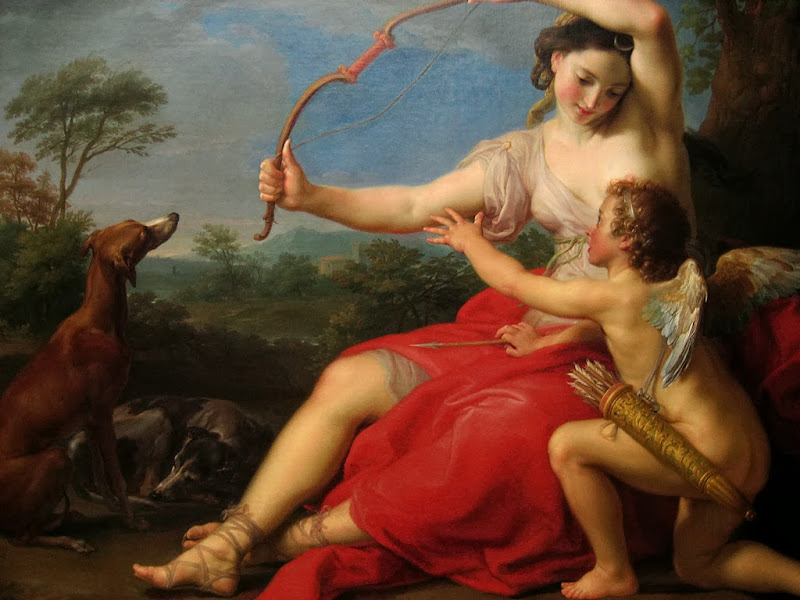 Pompeo Batoni - Diana and Cupid
