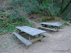 Picnic benches at the trail head