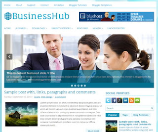 BusinessHub blogger template