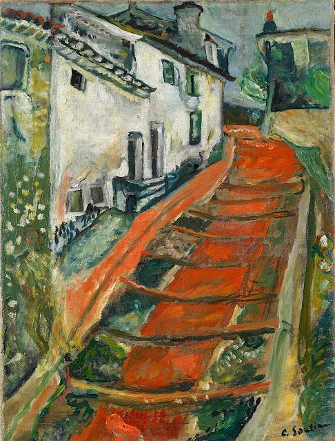 Chaim Soutine - L'escalier rouge à Cagnes.