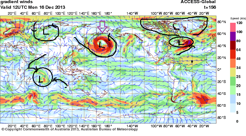 16th dec 2013 intense low nth pacific