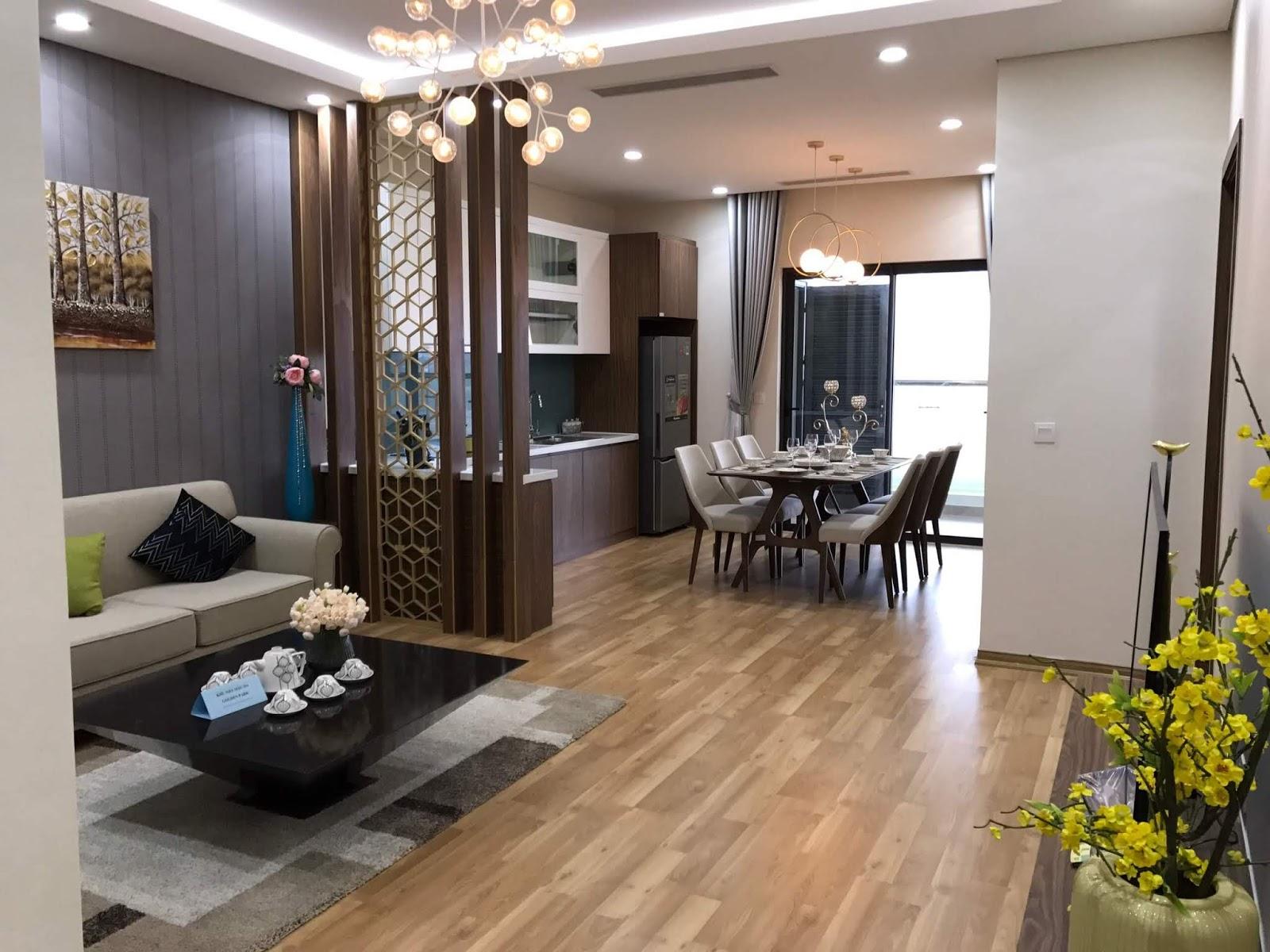 Phòng khách căn 3 ngủ Golden Park