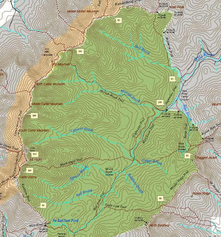 HikeNHcom View topic Wild River Wilderness Loop 9222012