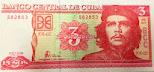 3 pesos cubanos CHE Vendo billetes de 3