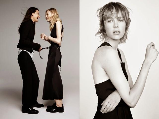 falda midi negra y pantalon negro de talle alto