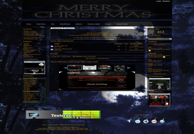 Free Phpfusion Black Blue Theme Template