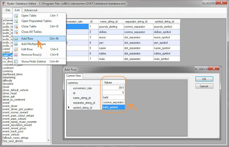 Modify ค่าเงินใน DiRT 2 ให้เป็นค่าเงินไทย D2cost03