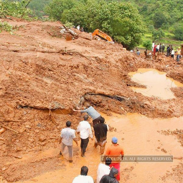 As many as 44 houses were crushed in Malin village, situated in Ambegaon taluka, some 120km from the district headquarters here in western Maharashtra, by the massive landslide that occurred on Wednesday morning trapping about 160 people under the debris after large parts of a hillside collapsed on them.