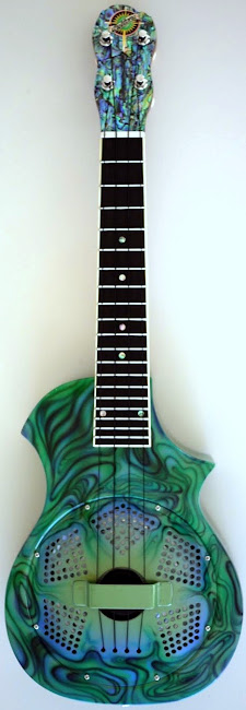 Beltona Type 2 concert with a paua finish at Lardy's Ukulele Database
