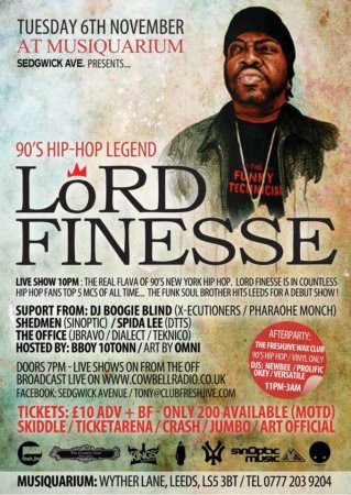 Lord Finesse Live @ Musiquarium in Leeds