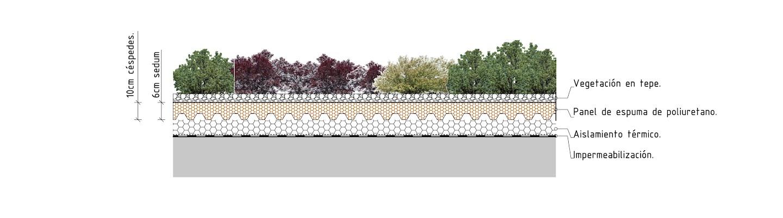 Sistema Rizoma de cubierta ajardinada ultraligera cubierta vegetal cubiertas vegetales techos verdes green roof