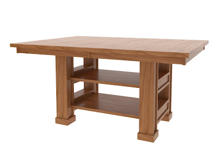 "46"" x 46"" Hagen Island Table in Vintage Cherry"