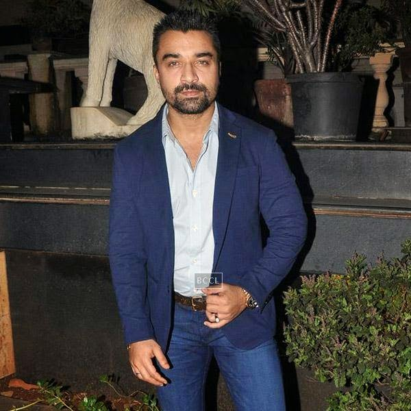 Ajaz Khan at Sangram Singh's birthday party, held at Churchgate, on July 20, 2014.(Pic: Viral Bhayani)